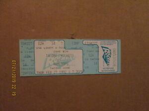 WHL Tacoma vs Kamloops Vintage Circa 1992 Team Logo Hockey Full Ticket