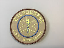 "WILDERNESS FIRST RESPONDER PATCH (TAN)   Hook and Loop Back 4"" Dia."