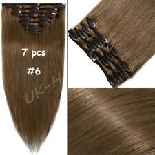 "AAA+ Clip In Real Remy Human Hair Extensions Full Head 15""-22"" 7PCS-8PCS US U760"