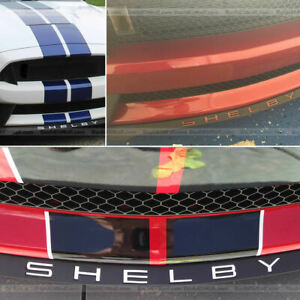 DKM | CHROME FRONT SPOILER LETTER INSERTS FOR SHELBY GT500 2020+ NOT DECALS