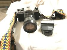 Pentax K1000 35mm Slr Film Camera with Lenses, Accessories