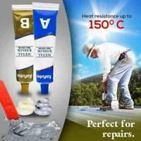 2x Industrial Heat Resistance Cold Weld Metal Repair Paste A&B Adhesive Gel