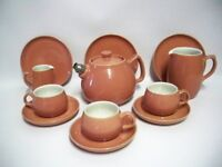 Langley Pottery (DENBY) Casino Ware, Part Tea Set 1950s (12 pieces)
