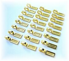 24 Large Goldtone Rectangle Glue on Bails 26 x 8 x 1 for Pendants Cameos Tiles..