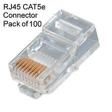 Technotech RJ45 Plug CAT5 RJ-45 Network LAN Crimp Connector Pack of 100 Pcs.