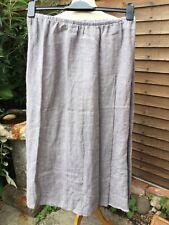Designer Flax Ladies Size Medium Long Linen Skirt NWT Grey/Blue