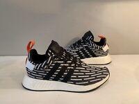 Adidas NMD_R2 PK Primeknit Sneakers Casual Black White Red BB2951 Sz: 8.5 NWOB