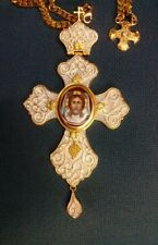 Gold Plated Pectoral Cross Christian Clergy Episcopal Pendant Bishop Abbot New