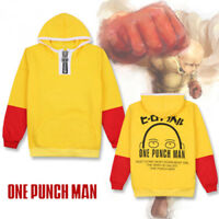 ONE PUNCH MAN Saitama Oppai Hoodie Anime Cosplay Hooded Sweatshirt Pullover Coat