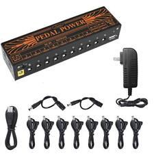 Guitar Effector Power Supply 10-way DC 18V 1A Output Aluminum Alloy Tool US Plug