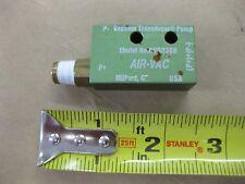 AIR-VAC AVR038H SINGLE STAGE Pneumatic Powered VACUUM Pump Transducer
