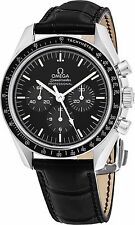 Omega Men's Speed Master Moon Watch Black Dial Automatic Watch 31133423001001