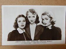 Postcard Film Stars Loretta young Janet Gaynor & Constance Bennett .XC2
