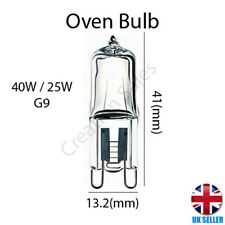 G9 Oven Cooker Appliance Bulb Lamp 25W 40W Halogen Capsule Dimmable 240V Branded
