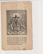 Oud doodsprentje DP Putte 1838 Mechelen  J.De Preter Van der Auwera Gravure