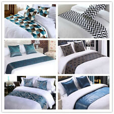 Bed Runner Scarf Pillowcase Hotel Bedding Wedding Home Bedroom Decor