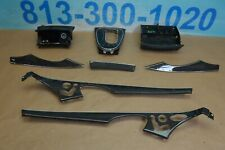 2009 W211 MERCEDES E63 AMG CARBON FIBER DASH DOOR CONSOLE TRIM MOLDING SET OF 8