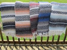 blanket mexican serape x throw vintage falsa yoga woven southwestern saltillo