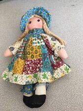 "Vintage THE ORIGINAL Knickerbocker HOLLY HOBBIE 9"" Cloth Rag Doll"
