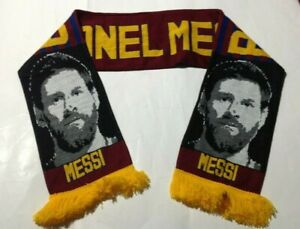 FC Barcelona Lionel Messi knitted JACQUARD SCARF - POSTFREE to UK
