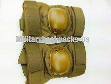 NEW USMC  Coyote Brown Marine US Military Elbow Pads Tactical  Paintball Airsoft