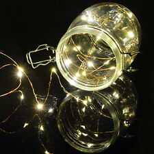 set 100 LED warm white fairy decorative copper wire lights Christmas XMAS indoor