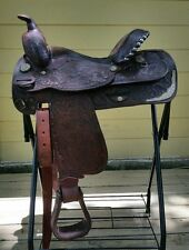 """Used 14 1/2"""" Circle Y Saddle with Silver"""