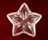 Star Shaped Clear Glass Candy Or Trinket Dish Bowl Unknown Maker Heavy Nice (O)