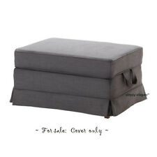 Ikea COVER for EKTORP Ottoman Svanby Gray Grey Ektorp Footstool Slipcover New