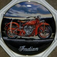 "Franklin Mint ""The 1929 Indian Scout"" Collector Plate, Royal Doulton, Coa Nib"