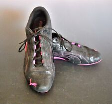 PUMA Pink and Black Trainer Athletic Shoes Women's Size 10