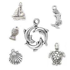 6 Pièce Tibetan Silver Sea thème Mixte Charme ensemble nautique
