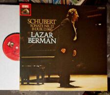 SCHUBERT SONATE Nr. 22 B-DUR D.960 LAZAR BERMAN LP