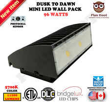 Dusk to Dawn 96W LED Mini Wall Pack Wall Mount Lighting Outdoor ETL DLC 5700K