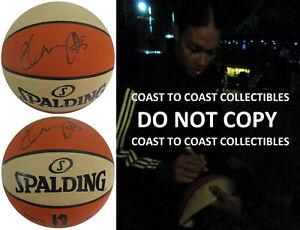 Liz Cambage Las Vegas Aces signed autographed WNBA basketball COA exact proof