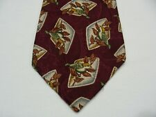 BURBERRY'S OF LONDON - HAND SEWN IN USA - 100% PURE SILK NECK TIE!