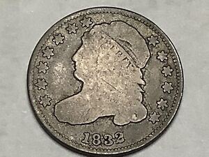 1832. Bust Dime 89% Silver 11% Copper   **Free Shipping **