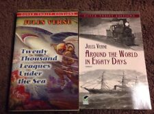 Jules Verne books Around The World In 80 Days & 20,000 Leagues Under The Sea