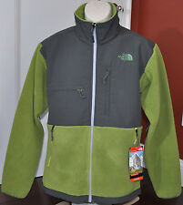 NWT New The North Face Men Denali Full Zip Fleece Jacket $179 GREEN Grey