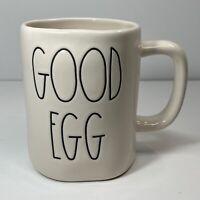 """Rae Dunn Easter/Spring LL """"GOOD EGG/BAD EGG"""" Double-Sided Mug NEW"""