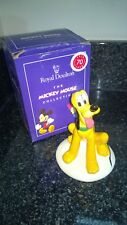 Royal Doulton Mickey Mouse Collection MM6 Pluto Dog Figurine 70th Ann Boxed