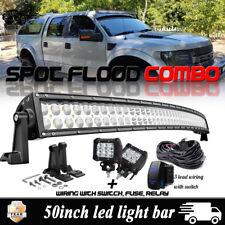 "2pc 18W Pods Cube +50"" Curved LED Light Bar Combo Kit 2006-2016 Ford Ranger Roof"