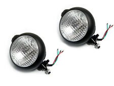 Pair Of Black Metal Headlights Headlamps Suitable For Caterham Kit Cars