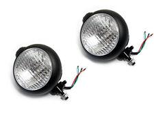 Pair Of Black Metal Headlights Headlamps Suitable For Caterham Kit Cars