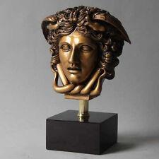 Medusa  Head Greek Art Home Decor Bust Statue Sculpture-Gold Finish