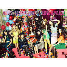 SNSD GIRLS GENERATION Japan 3rd Album LOVE&PEACE First Limited CD + Blu-ray NEW