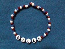 NFL Buffalo Bills beaded bracelet