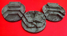 60mm Ruins Objectives Resin Bases (3) Player Created Custom Wargames Displays