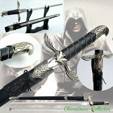 "34"" Assassins Creed Altair Majestic Steel Blade Sword + Sheath Cosplay #0010"