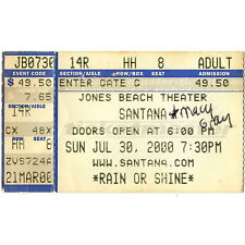CARLOS SANTANA & MACY GRAY Concert Ticket Stub WANTAGH NY 7/30/00 JONES BEACH